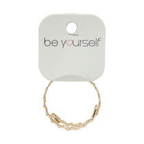 Be Yourself Bracelet Metal Wrap Gold