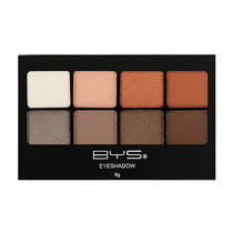 BYS Eyeshadow 8 Colour Palette Terracotta
