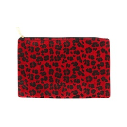BYS Cosmetic Bag Leopard Red