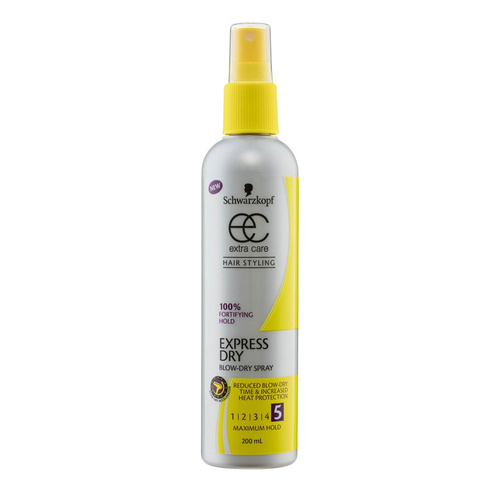 Schwarzkopf Extra Care Blow Dry Spray Express Dry 5 Maximum Hold 200ml