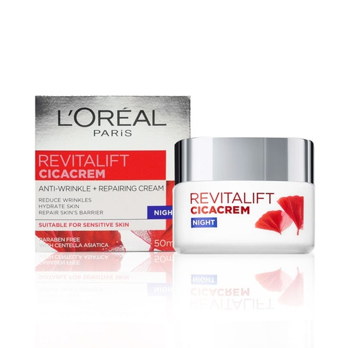 L'Oreal Revitalift Cicacrem Anti Wrinkle + Repairing Cream Night 50ml